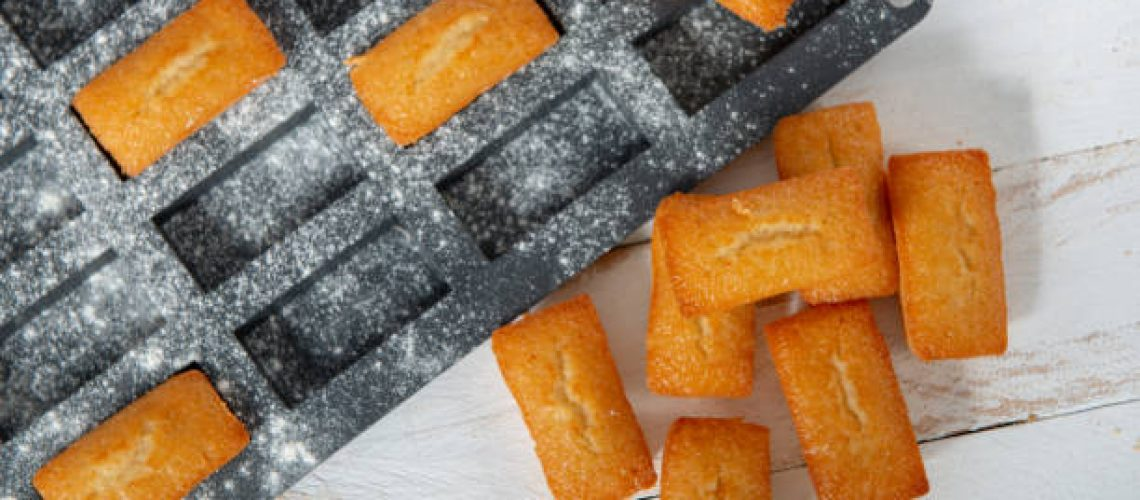 homemade financier cake, a french pastry